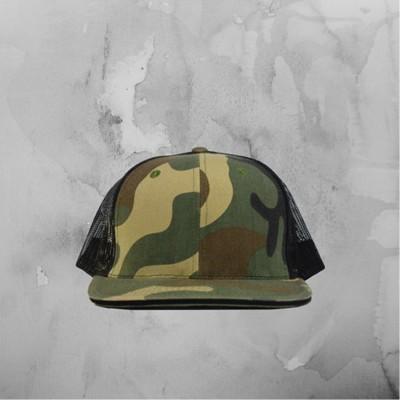 Army and Black Mesh Snapback