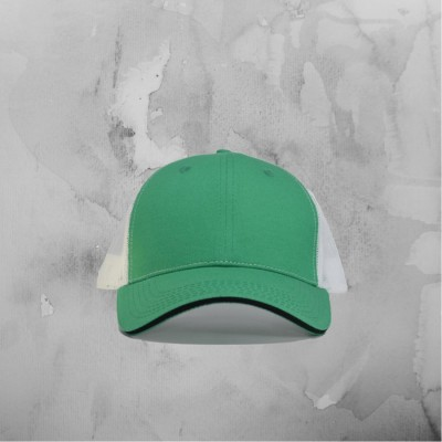 Green & White Trucker Hat