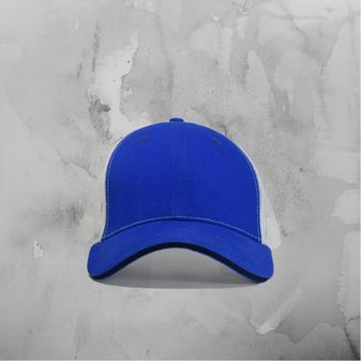 Royal Blue White Mesh Cap