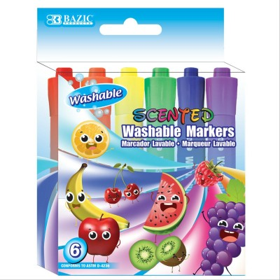 BAZIC 6 Color Washable...
