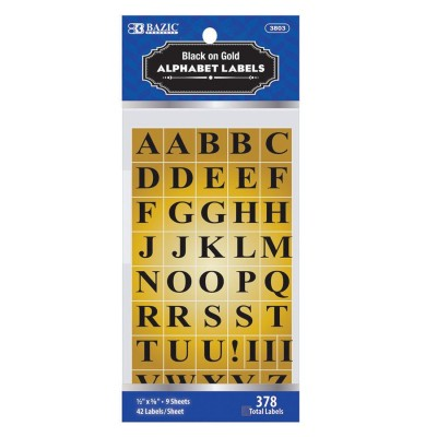 BAZIC Gold Foil Alphabet Label