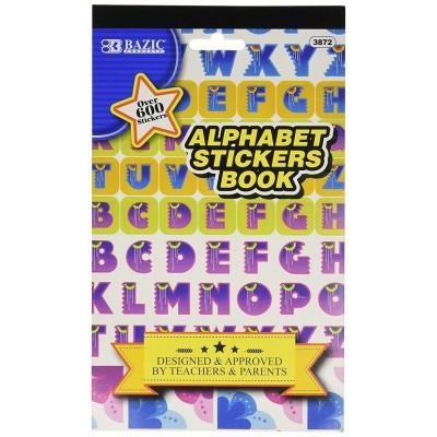 BAZIC Alphabet Sticker Book