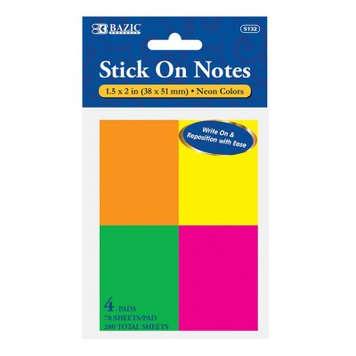 BAZIC 70 Count Neon Stick...