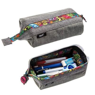 Zipit Lenny Pencil Case - Grey