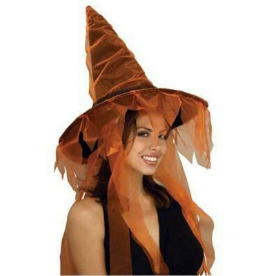 Adult Witch Hat With Tull...