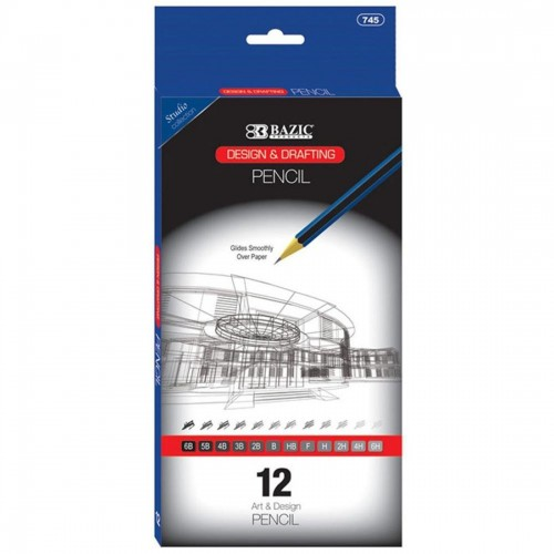 BAZIC Design & Drafting Pencil Set of 12