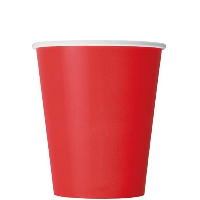 Paper Cup 10 Pieces - Red