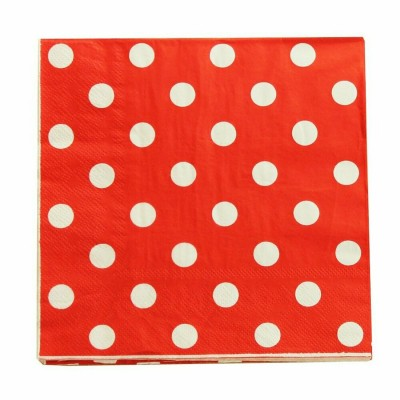 Napkins 20 Pieces - Red Dot