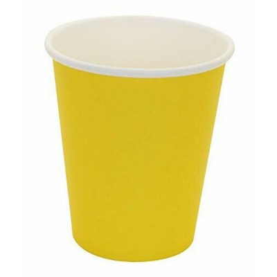 Paper Cups 10 Pieces - Yellow