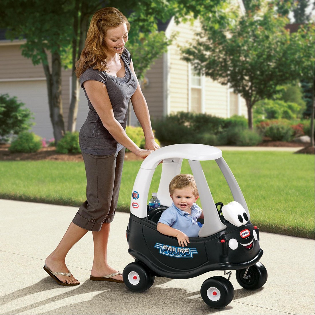 Shop Little Tikes Patrol Police Car Little Tikes Delivered To Your Home The Outfit [ 1100 x 1100 Pixel ]