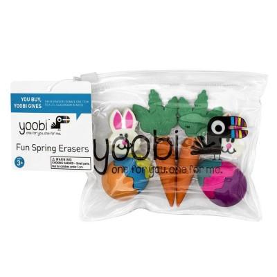 Yoobi Fun Spring Erasers 6...