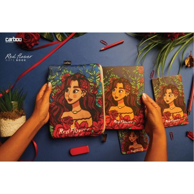 Red flower Notebook Package
