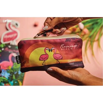 Carbon Flamingo Pencil Case