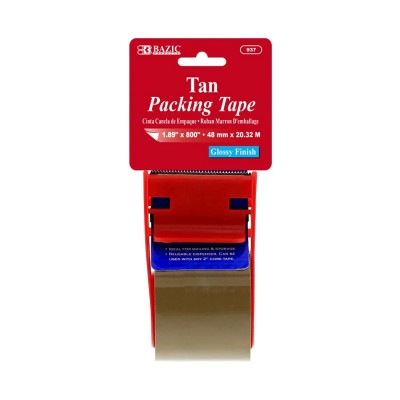 BAZIC Tan Packing Tape with...