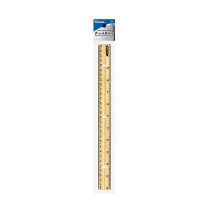 BAZIC 30cm Wooden Ruler