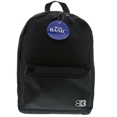 "BAZIC 16"" Black Basic Backpack"