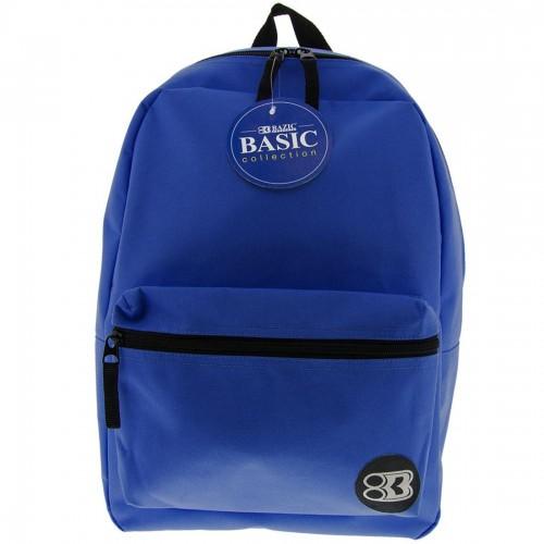 """BAZIC 16"""" Blue Basic Backpack"""