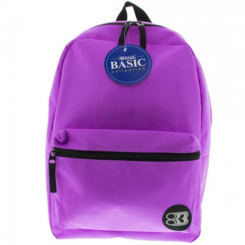 BAZIC 16'' Basic Backpack - Purple