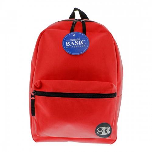 BAZIC 16'' Basic Backpack - Red
