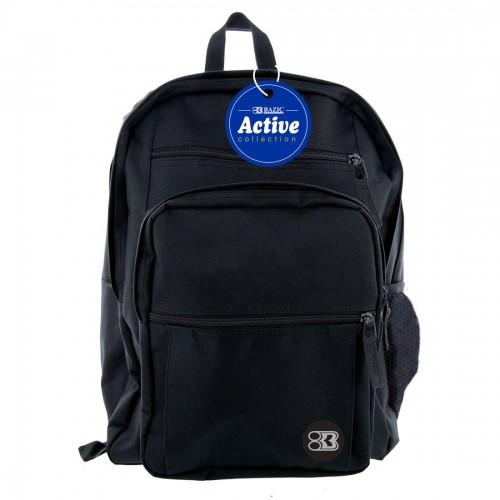 "BAZIC 17"" Active Backpack - Black"
