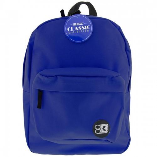 """BAZIC 17"""" Classic Backpack - Blue"""