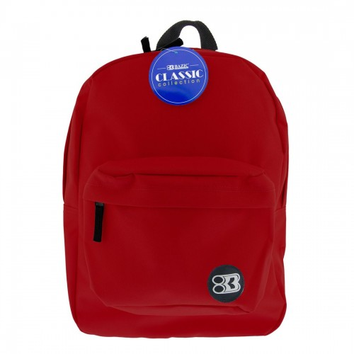 BAZIC 17'' Classic Backpack - Burgundy
