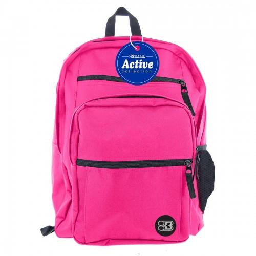 BAZIC 17'' Active Backpack - Fuchsia