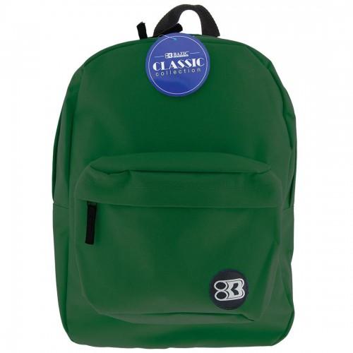 BAZIC 17'' Classic Backpack - Green
