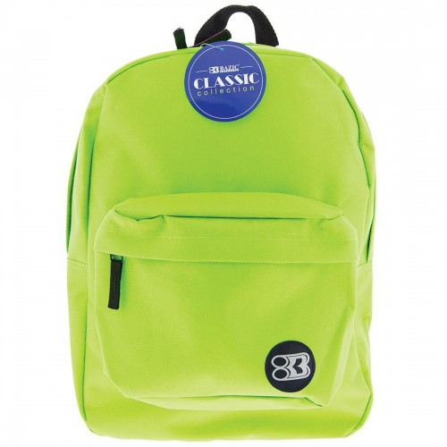 BAZIC 17'' Classic Backpack - Lime Green