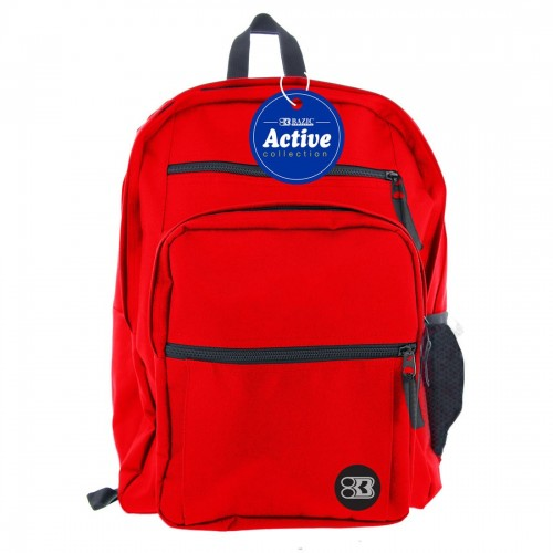 BAZIC 17'' Active Backpack - Red