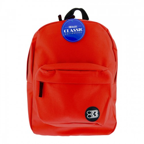 BAZIC 17'' Classic Backpack - Red