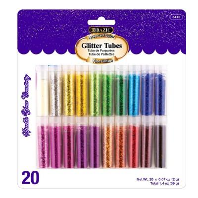 BAZIC 2g Glitter Tubes Set...