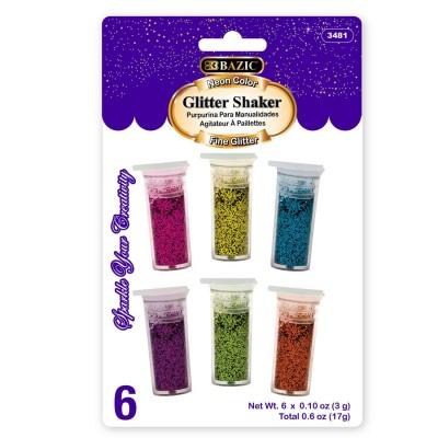 BAZIC 6 Neon Color Glitter...