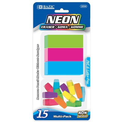 BAZIC Neon Eraser Sets Set...