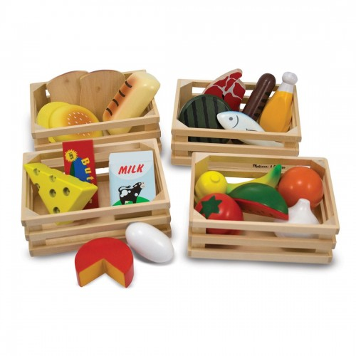 Melissa & Doug Food Groups - Wooden...