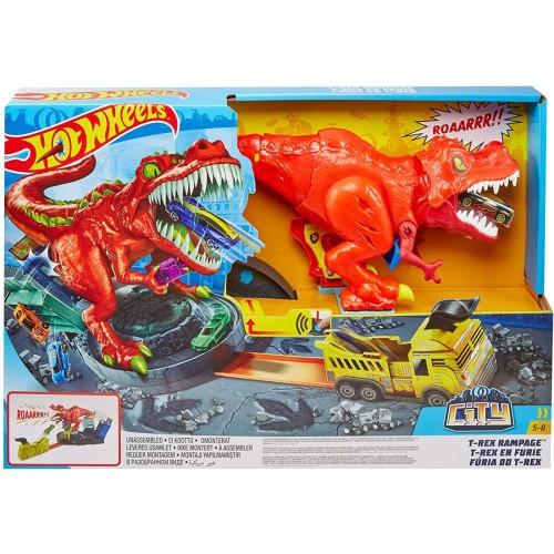 Hot Wheels T-Rex Rampage Track Set