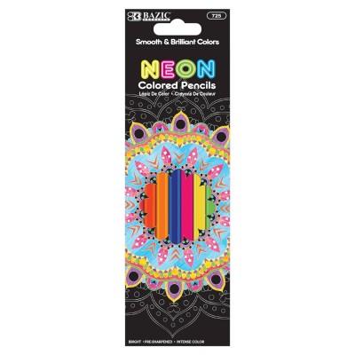 Bazic 8 Neon Colored Pencils
