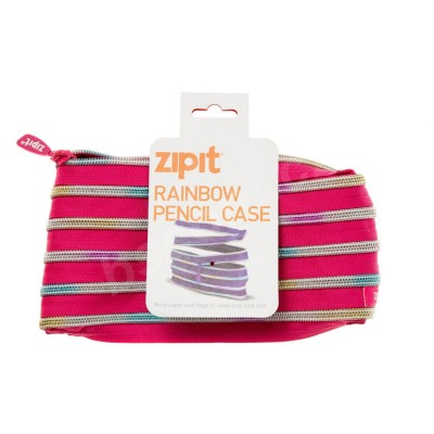 Zipit Rainbow Pink Pencil Case