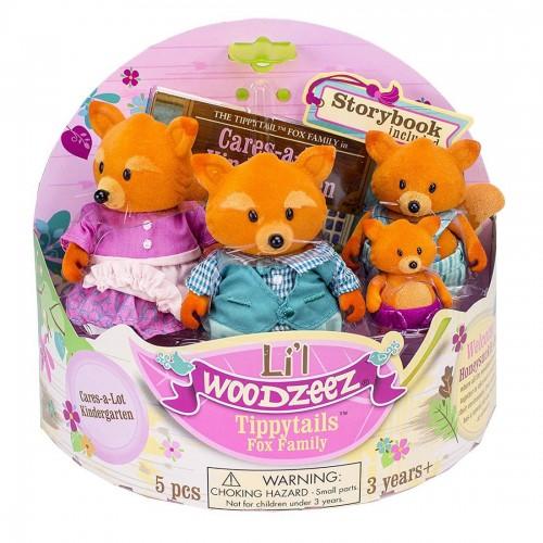 Li'l Woodzeez Tippytails Fox Family...