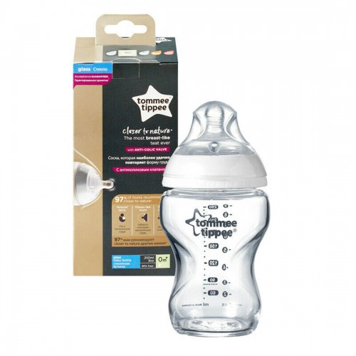 Tommee Tippee Baby Bottle Glass 250ml