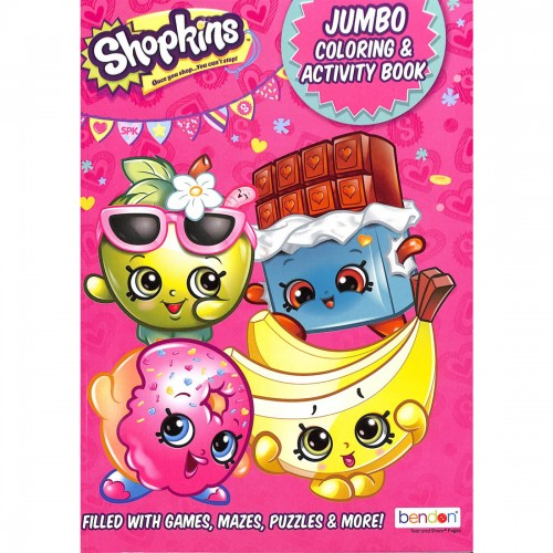 Order BAZIC SHOPKINS Coloring Book 4573936 - Bazic, Delivered To Your Home  The Outfit