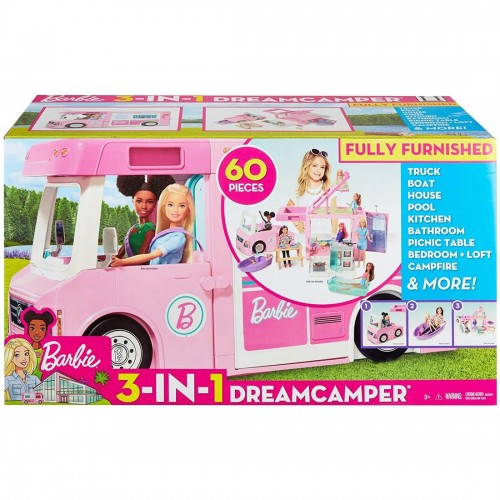 Barbie 3-in-1 DreamCamper Vehicle and...