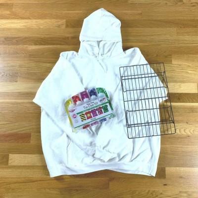 Tie Dye White Hoodie Kit