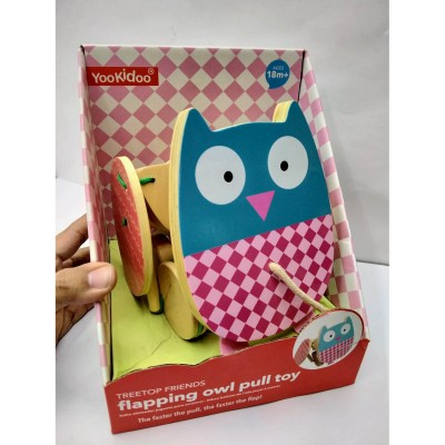 Yookiddo Flapping Owl Pull Toy