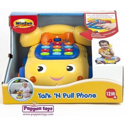 Winfun Talk 'N Pull Phone (B)