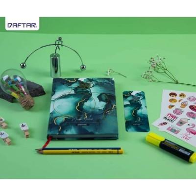 Daftar Marble Green Notebook