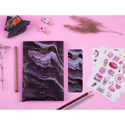 Daftar Marble Purple Notebook