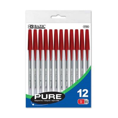 BAZIC Pure Red Stick Pen