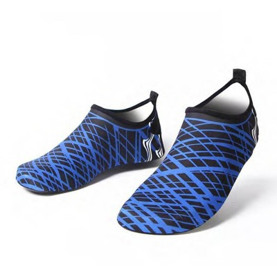 Aqua Blue Stripes Beach Shoes