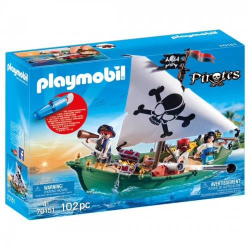 Playmobil Pirate Ship with Underwater...